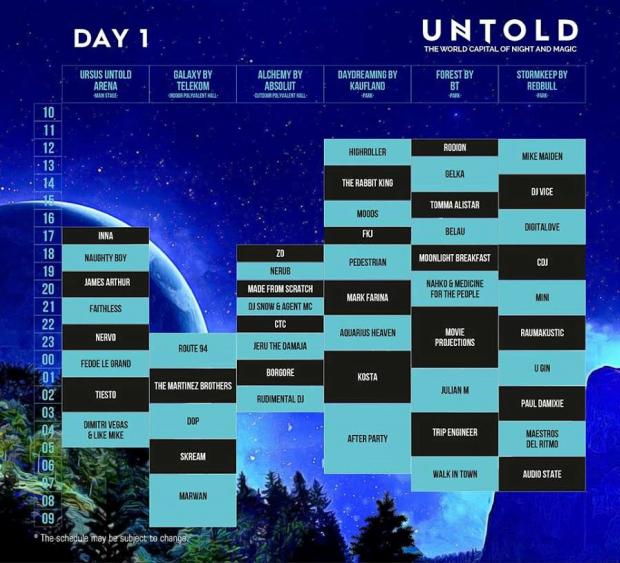 untold festival 2016 program day 1