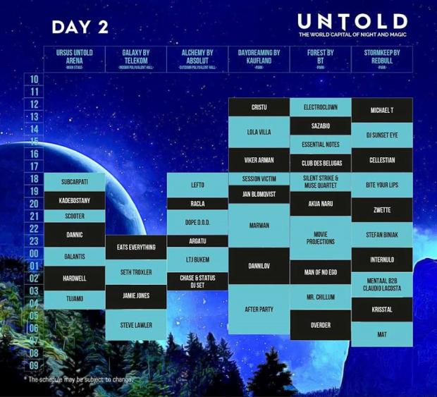 untold festival 2016 program day 2