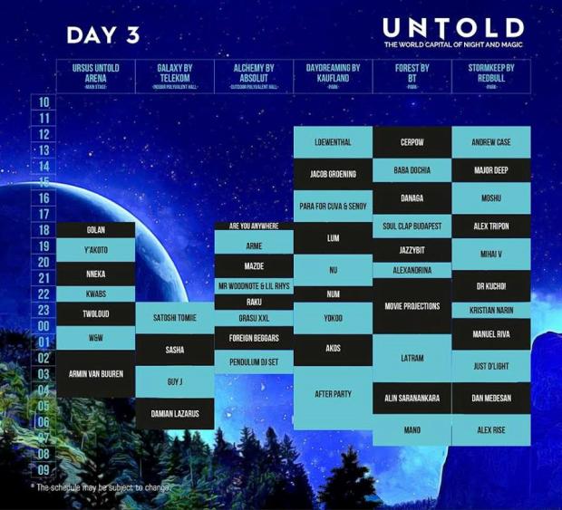 untold festival 2016 program day 3