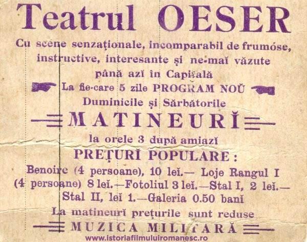 100 de ani de cinematografe in Bucuresti